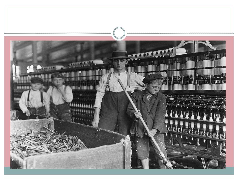  Slavehandel ble avskaffet i 1807, og forbud mot slaveri i 1833  Det ble også innført fabrikklover som skulle begrense barnearbeid  Det ble forbudt
