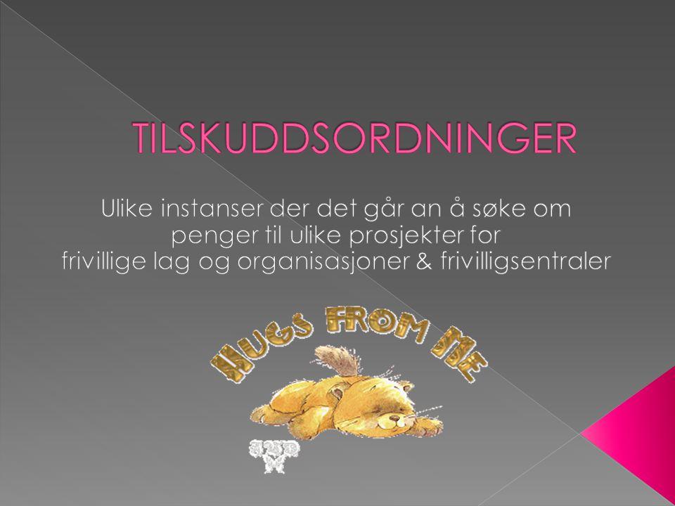  Telenor fondet – øremerket idrett'  Conoco Phillips  Musikkutstyrsordningen – søknadsfrist 1.september  KOMP www.musikk.no/kompwww.musikk.no/komp  www.ung.no utdanningslegater og stipend www.ung.no  www.coop.no – søk lokale www.coop.no  www.tubfrim.no – trivselsfremmende tiltak for funksjonshemmede barn og unge www.tubfrim.no  Stiftelsen Sophies Minde – tilskudd til bevegelseshemmede til kultur og fritidstiltak.