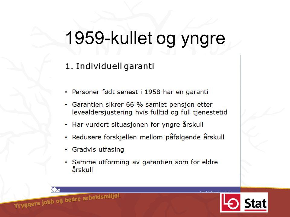 1959-kullet og yngre