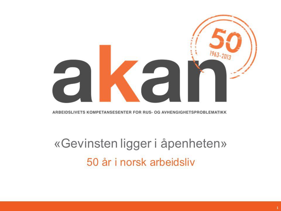 «Gevinsten ligger i åpenheten» 50 år i norsk arbeidsliv 1