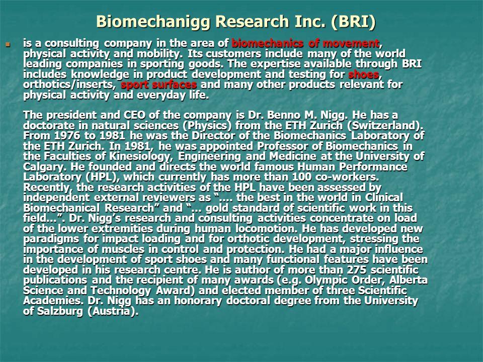 Biomechanigg Research Inc.