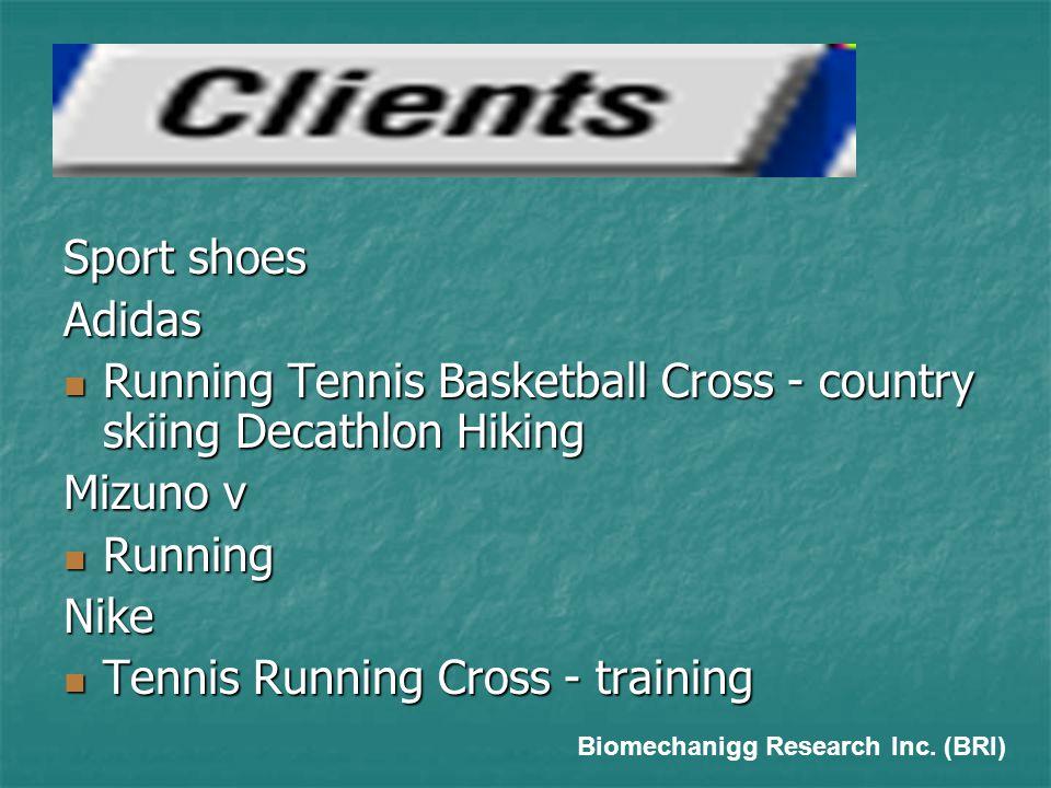 Sport shoes Adidas  Running Tennis Basketball Cross - country skiing Decathlon Hiking Mizuno v  Running Nike  Tennis Running Cross - training Biomechanigg Research Inc.