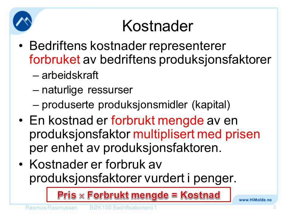 Eks: MVA BØK100 Bedriftsøkonomi 1 84 Skogeier selger til sagbruk for 330 + mva Sagbruk selger til trelastsalg for 690 + mva Trelastsalg selger for 1 090 + mva Rasmus Rasmussen