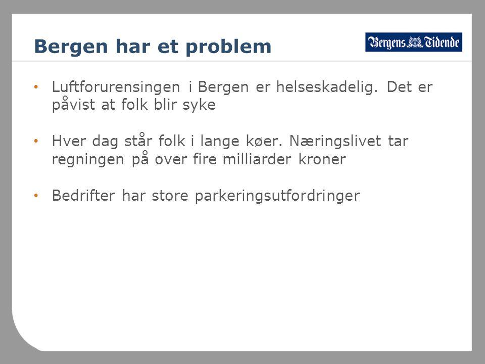 Bergen har et problem • Luftforurensingen i Bergen er helseskadelig.