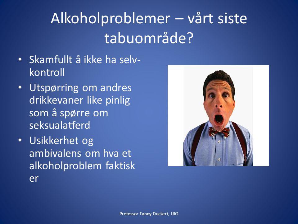 Alkoholproblemer – vårt siste tabuområde.