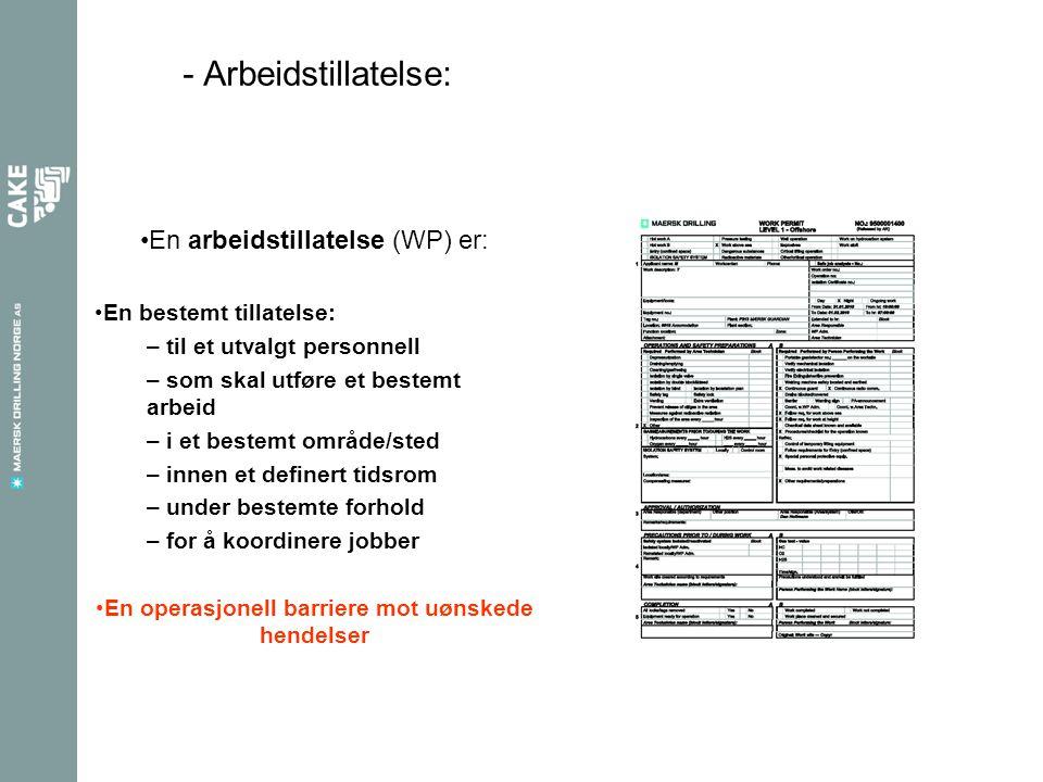 - Arbeidstillatelse prosessen: klassifisering Høy risiko .
