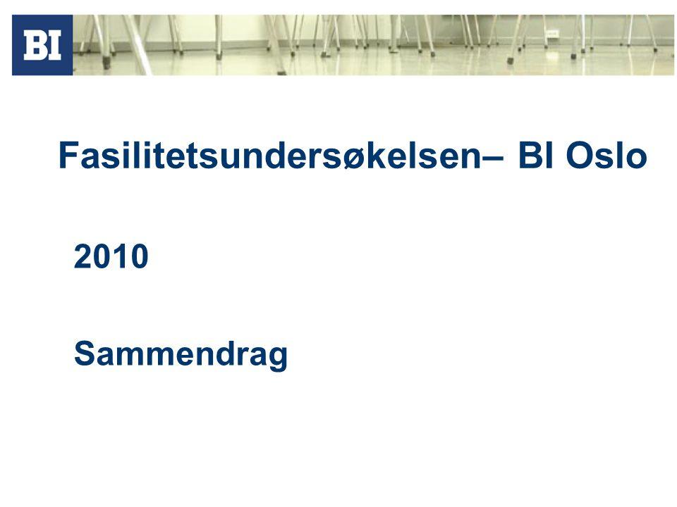 Fasilitetsundersøkelsen– BI Oslo 2010 Sammendrag