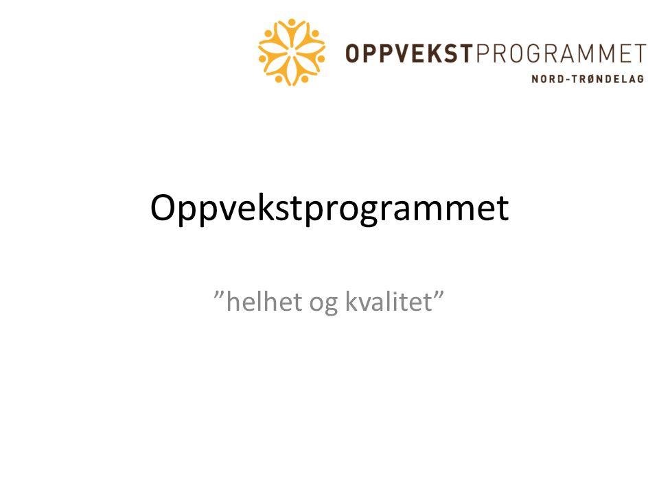"""Oppvekstprogrammet """"helhet og kvalitet"""""""