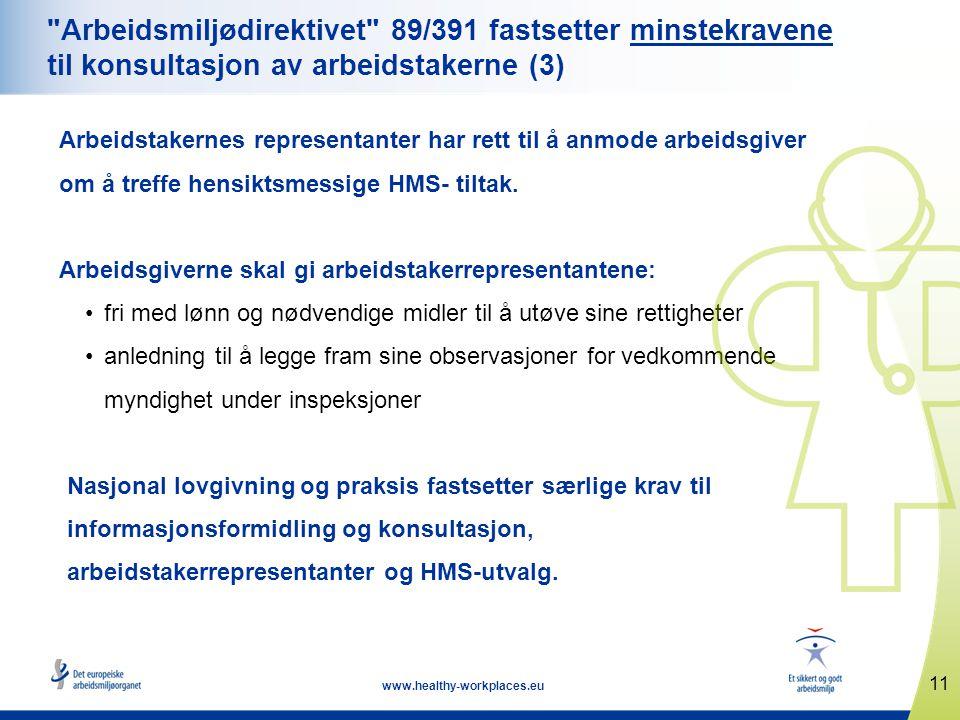 11 www.healthy-workplaces.eu