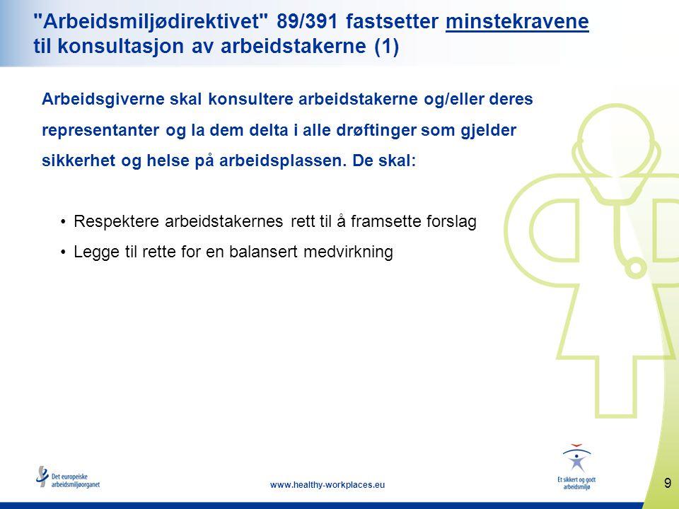 9 www.healthy-workplaces.eu