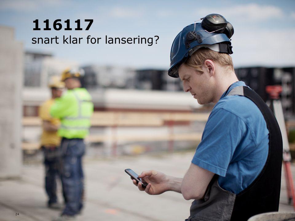 116117 snart klar for lansering? 24