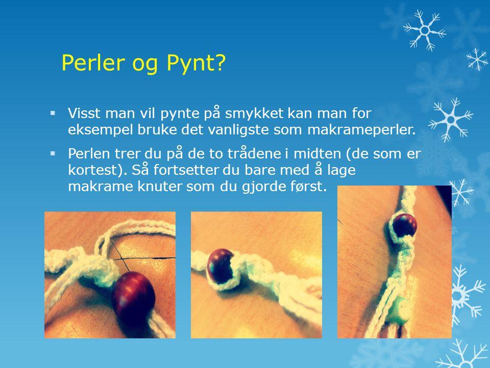 Perler og Pynt.