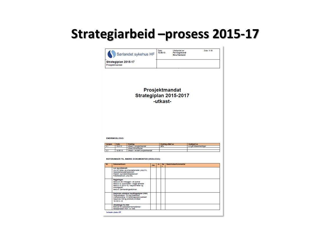 Strategiarbeid –prosess 2015-17