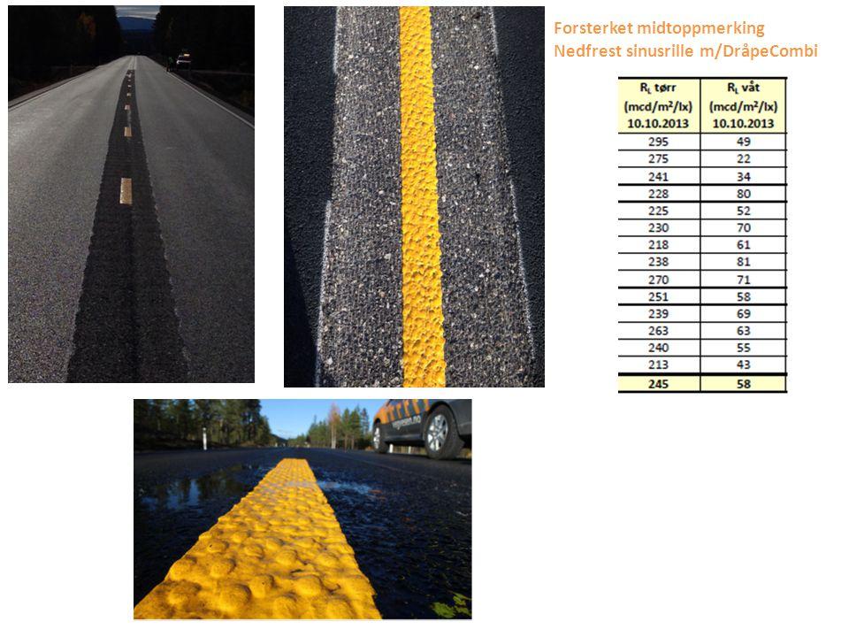 Forslag: For gangfelt som er i vegbelyste områder kan kravet til RL TØRR reduseres/fravikes og samtidig høyne kravet til friksjon.