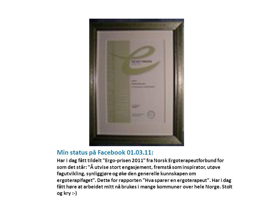 • Rapporten førte til en økning i antall ergoterapeutstillinger i Elverum fra 3 til 5 årsverk.