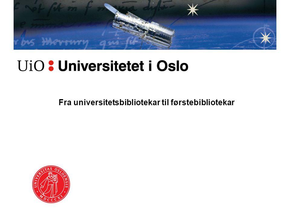 Mandatet til utvalget ved UBO •Hvilke publikasjoner / oppgaver ligger til grunn for opprykk •Komme med forslag til hva UBO kan gjøre for å øke kvalifiseringen •Se på reglementet som fører til opprykk og evt komme med endringer •Forslag til bruk av fagreferenters rett til faglig arbeid •Utvalget bes også om å se på hvordan Universitetsbiblioteket kan nyttiggjøre seg tilsatte med mastergrad fra Høgskolen i Oslo, avd.