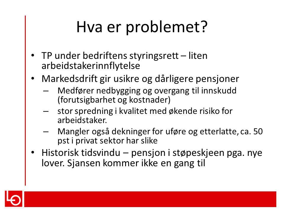 Hva er problemet.