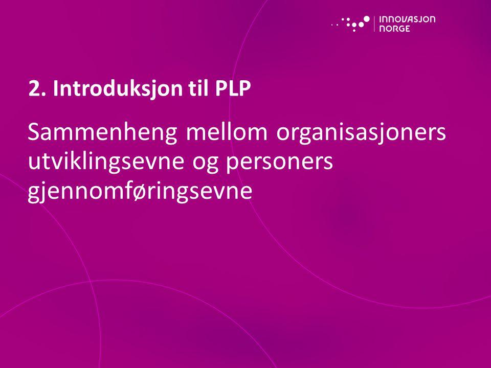 Sammenheng mellom organisasjoners utviklingsevne og personers gjennomføringsevne 2.