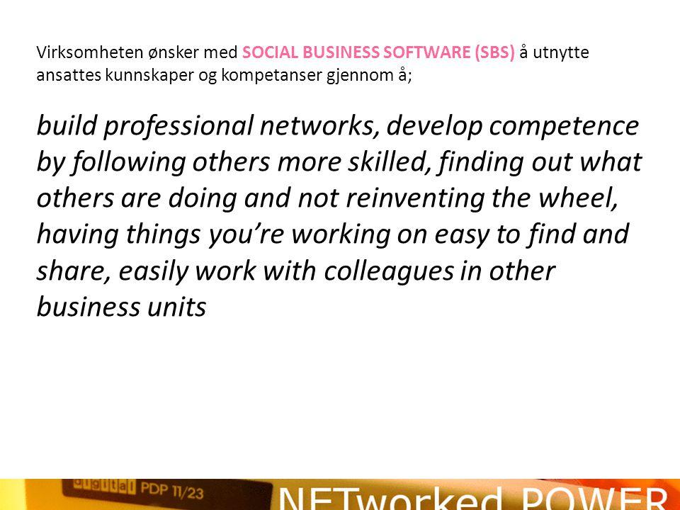 Men blir flere gladere i å dele kunnskap med SBS.
