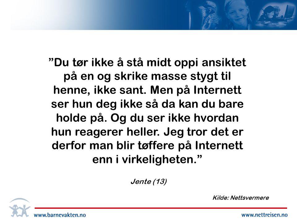 Hore! •Etter å ha kalt en annen jente for hore i en chattekanal på hamarungdom.no, ble en 17 år gammel jente på Østlandet dømt for å ha krenket en annens fred.