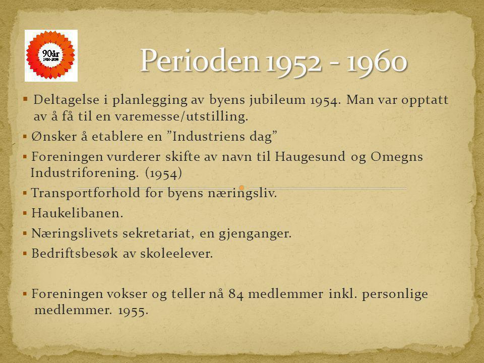 Chr. Buch fortsetter etter krigen som leder, og foreningen fortsetter sin blomstring. o Etablering av Handelsgymnasium o Reguleringsplanen for Haugesu