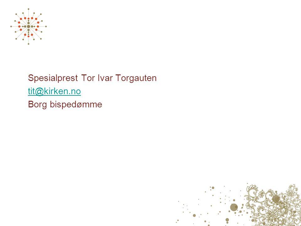 Spesialprest Tor Ivar Torgauten tit@kirken.no Borg bispedømme