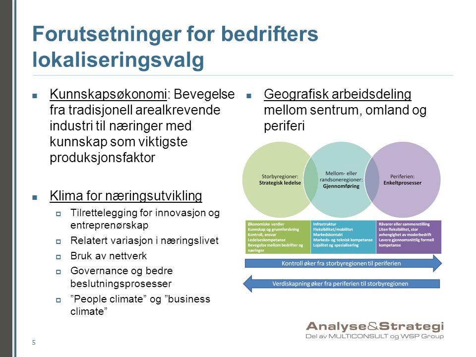 Arealmessige forutsetninger for næringsetablering i Drammen  Drammens arealstrategi: Konsentrert utbyggingsmønster  Kartet på neste lysbilde viser hvilke områder i kommunen som skal henholdsvis:  Fortettes: Videreføring av dagens arealbruk  Transformeres: Arealbruk må endres i større grad 6