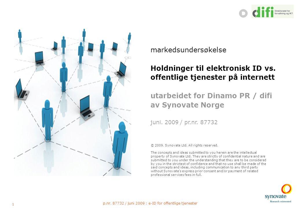 22 p.nr. 87732 / juni 2009 : e-ID for offentlige tjenester