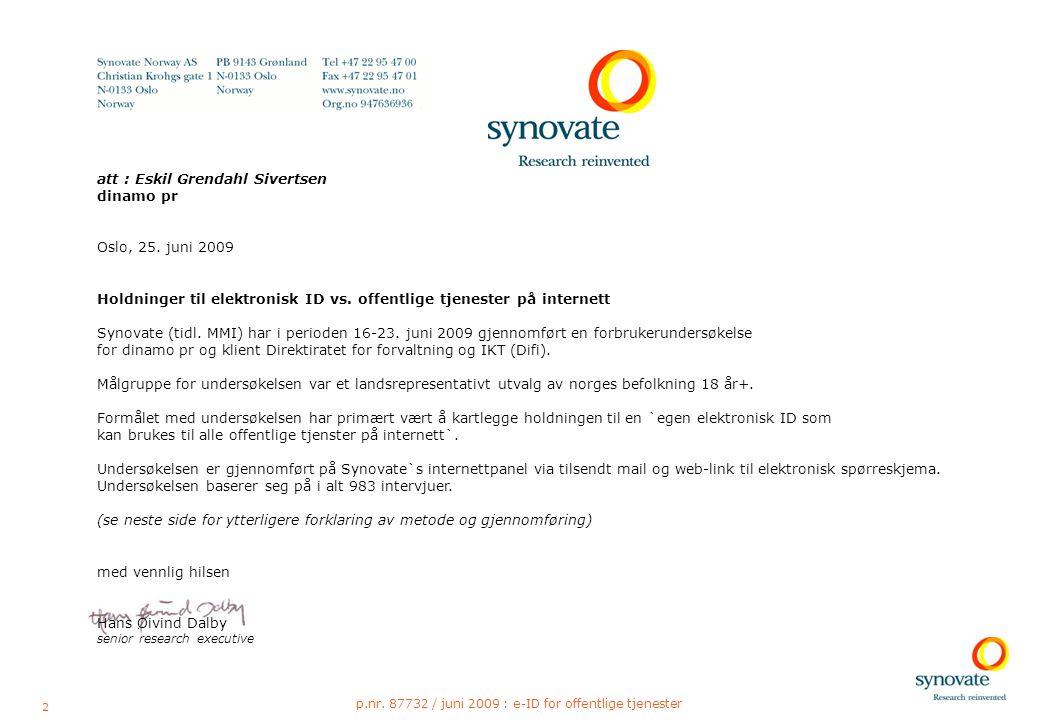 13 p.nr. 87732 / juni 2009 : e-ID for offentlige tjenester