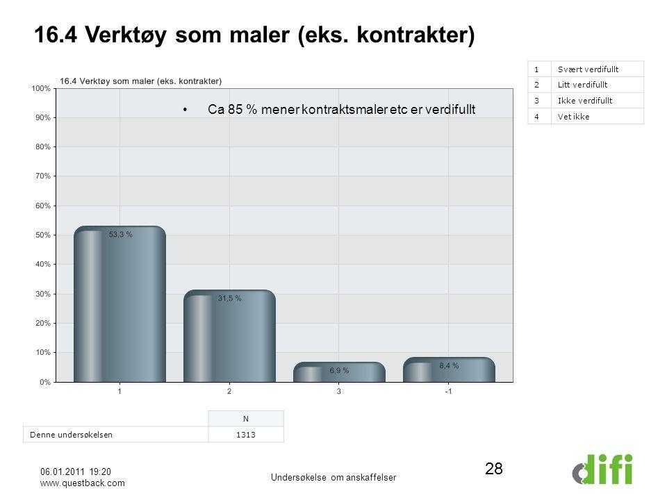 06.01.2011 19:20 www.questback.com Undersøkelse om anskaffelser 28 16.4 Verktøy som maler (eks.