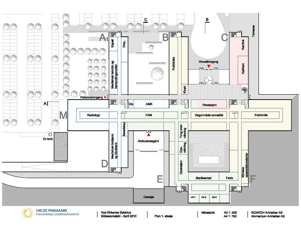 Nye Kirkenes sykehus BOARCH arkitekter as Momentum Arkitekter AS Norconsult AS 18 1. Etasje