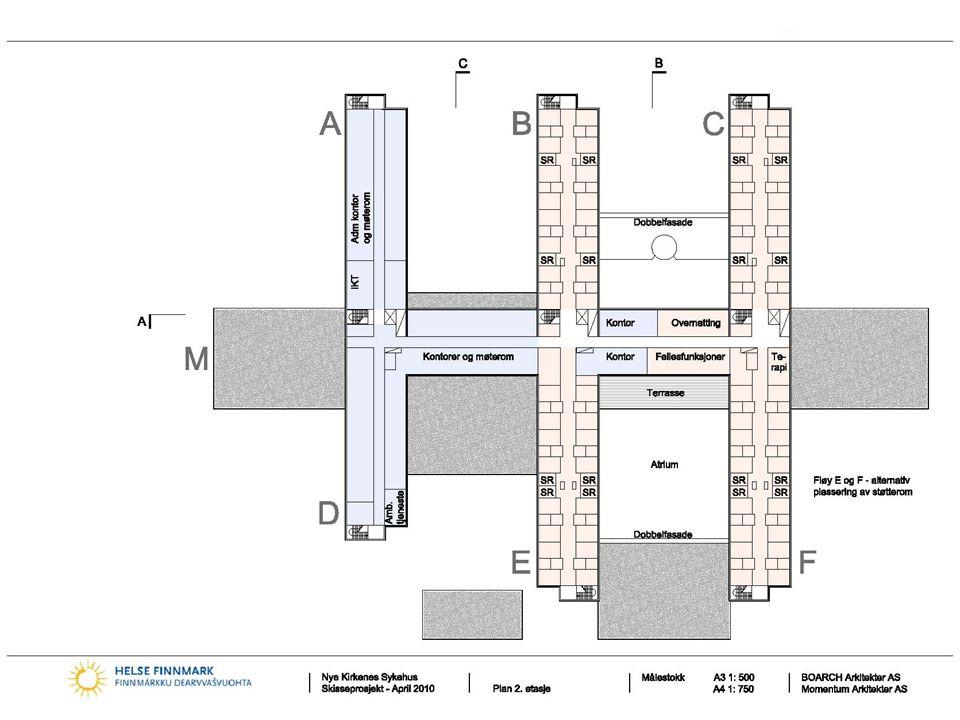 Nye Kirkenes sykehus BOARCH arkitekter as Momentum Arkitekter AS Norconsult AS 19 2. Etasje