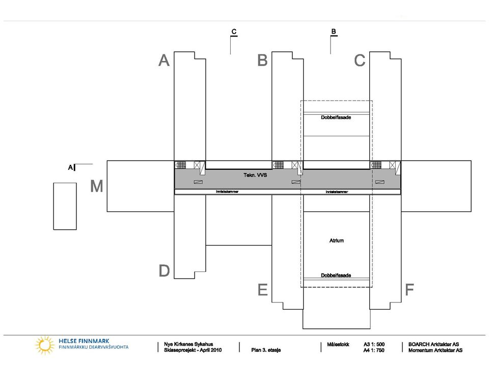 Nye Kirkenes sykehus BOARCH arkitekter as Momentum Arkitekter AS Norconsult AS 21 3. Etasje