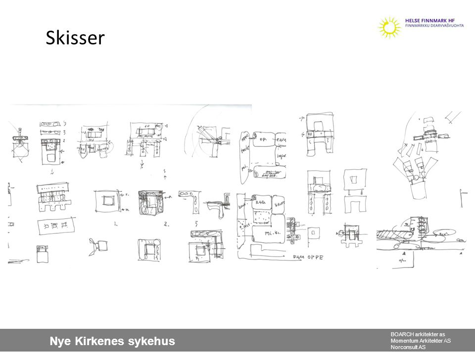 Nye Kirkenes sykehus BOARCH arkitekter as Momentum Arkitekter AS Norconsult AS Fasade øst 26 Fasade vest