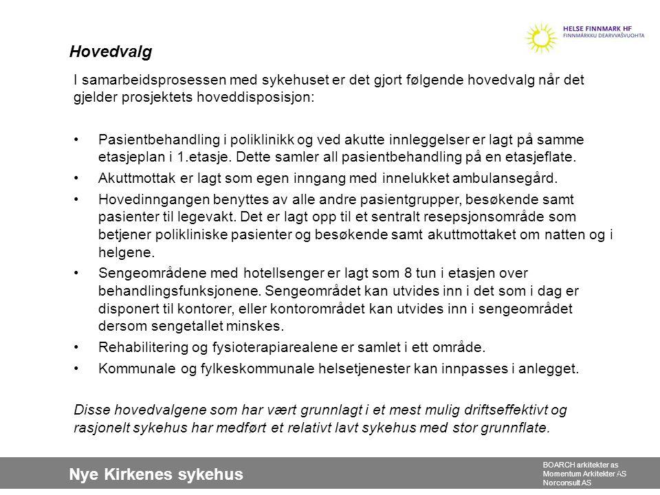 Nye Kirkenes sykehus BOARCH arkitekter as Momentum Arkitekter AS Norconsult AS 2.Etasje1.Etasje Alternativ plassering av føde 20