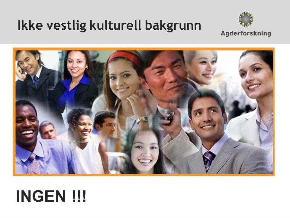 Ikke vestlig kulturell bakgrunn INGEN !!!