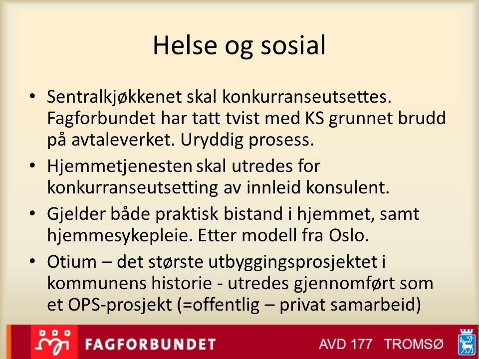 Helse og sosial • Sentralkjøkkenet skal konkurranseutsettes.