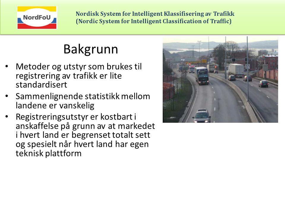 Nordisk System for Intelligent Klassifisering av Trafikk (Nordic System for Intelligent Classification of Traffic) Detektorer