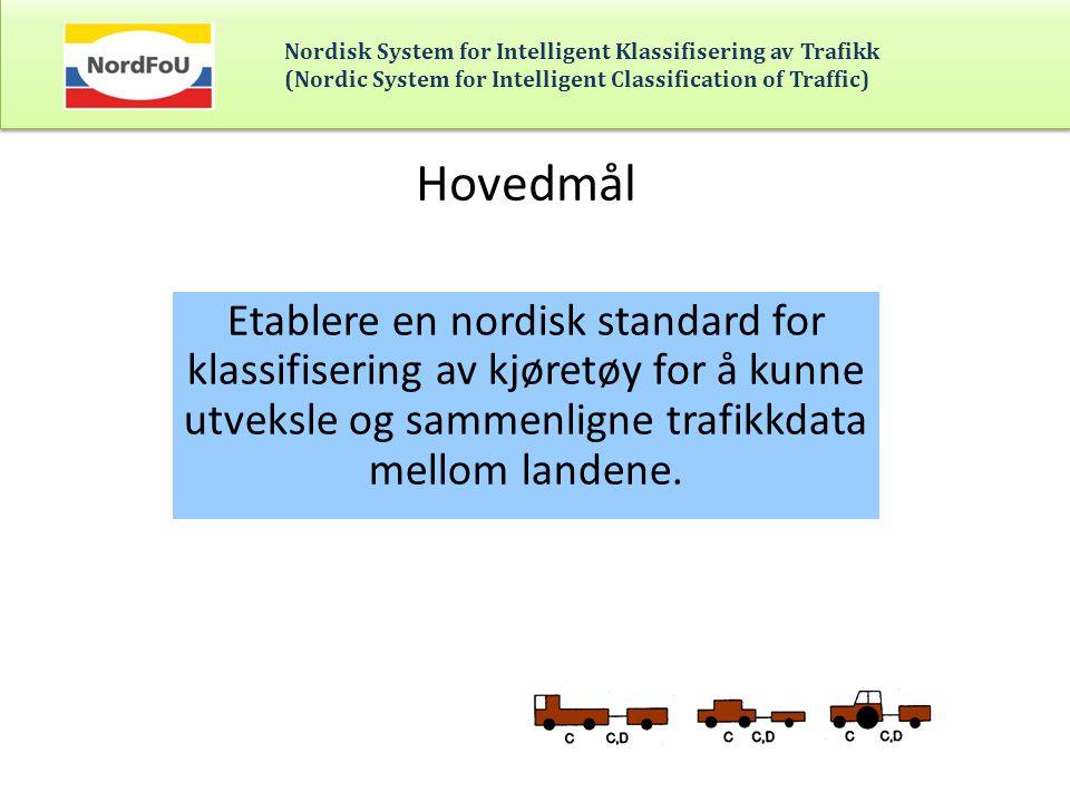 Nordisk System for Intelligent Klassifisering av Trafikk (Nordic System for Intelligent Classification of Traffic) Utstyr som er testet i Amsberg