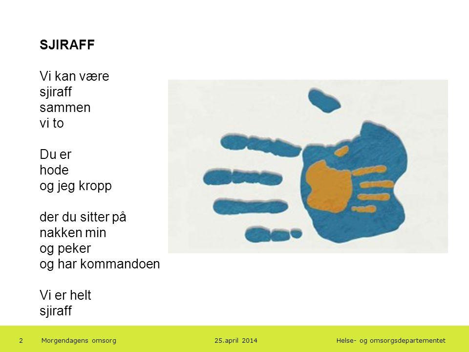 Helse- og omsorgsdepartementet Norsk mal: To innholdsdeler - Sammenlikning Tips farger: HODs fargepalett er lagt inn i malen og vil brukes automatisk i diagrammer og grafer 3.