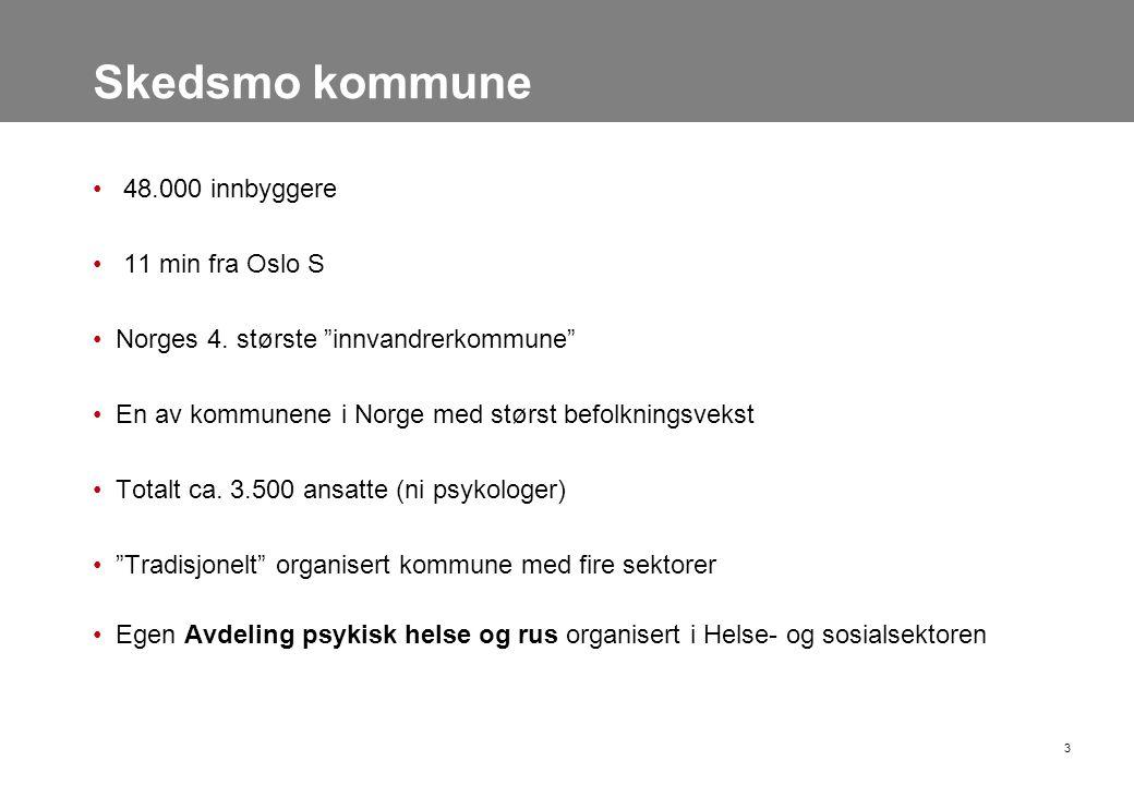 """3 Skedsmo kommune • 48.000 innbyggere • 11 min fra Oslo S •Norges 4. største """"innvandrerkommune"""" •En av kommunene i Norge med størst befolkningsvekst"""