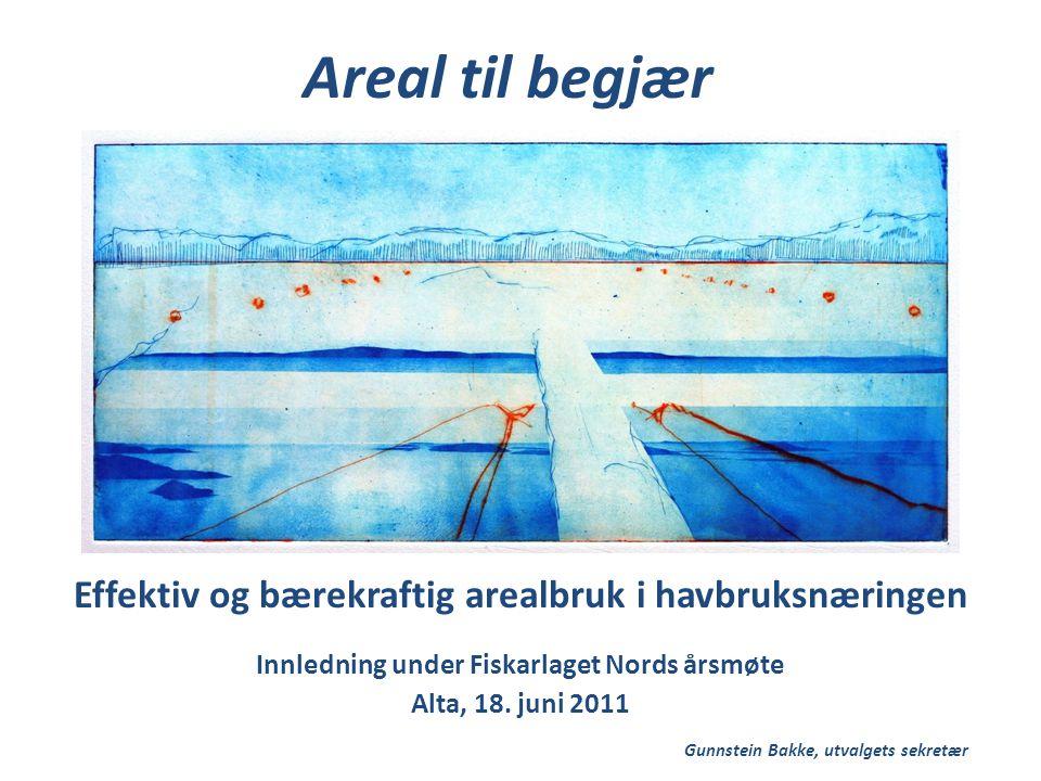 Effektiv og bærekraftig arealbruk i havbruksnæringen Innledning under Fiskarlaget Nords årsmøte Alta, 18.