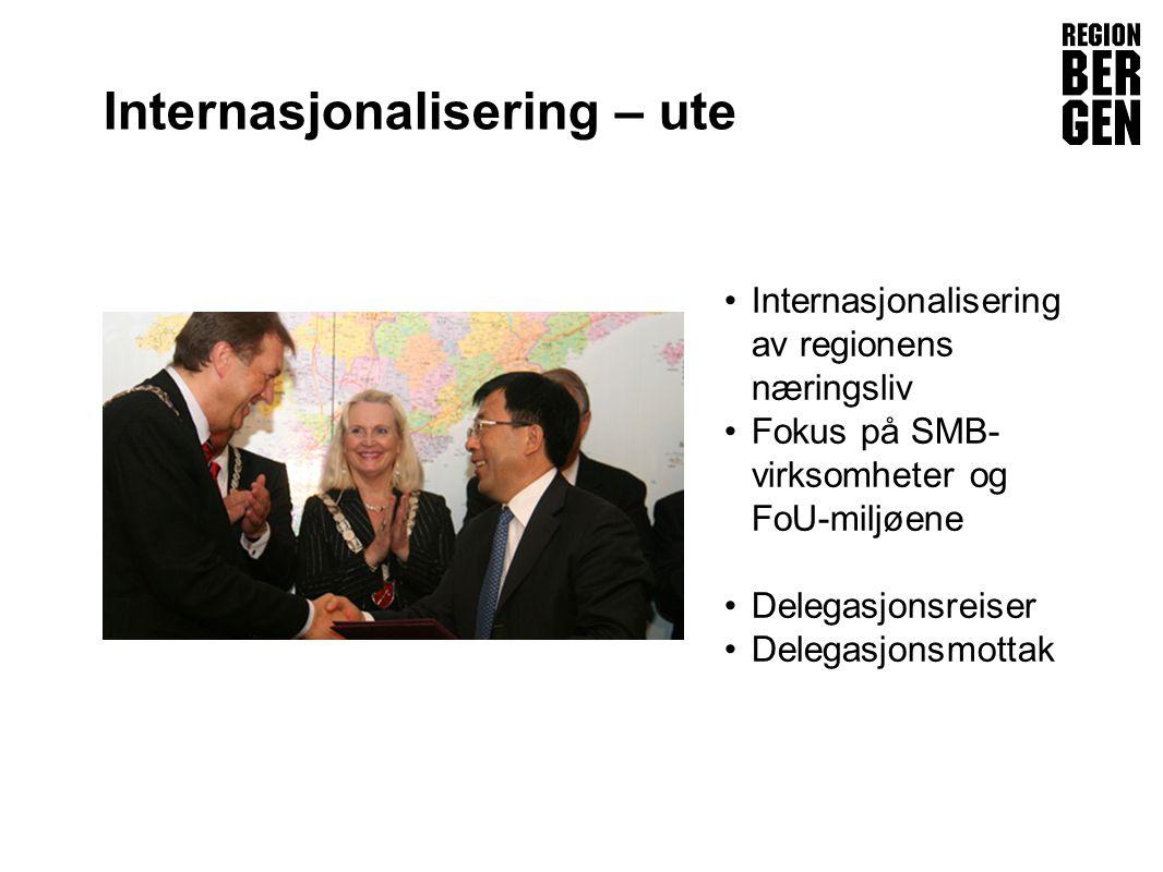 Insert company logo here Internasjonalisering – ute •Internasjonalisering av regionens næringsliv •Fokus på SMB- virksomheter og FoU-miljøene •Delegasjonsreiser •Delegasjonsmottak