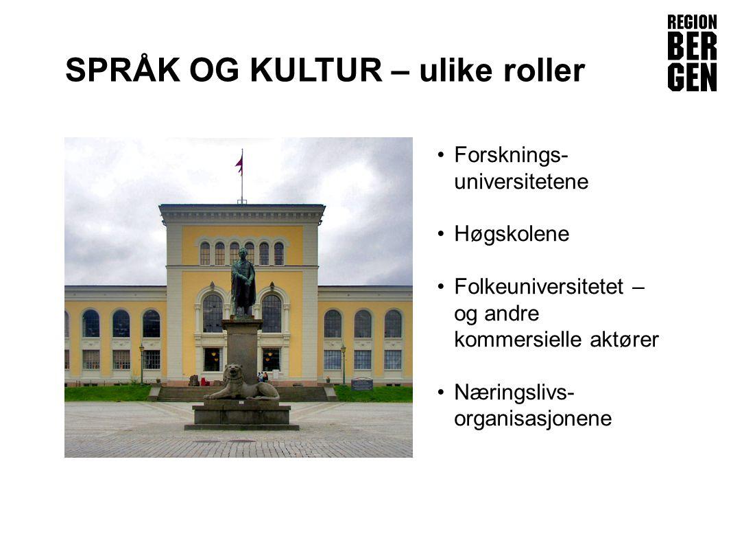 Insert company logo here SPRÅK OG KULTUR – ulike roller •Forsknings- universitetene •Høgskolene •Folkeuniversitetet – og andre kommersielle aktører •Næringslivs- organisasjonene