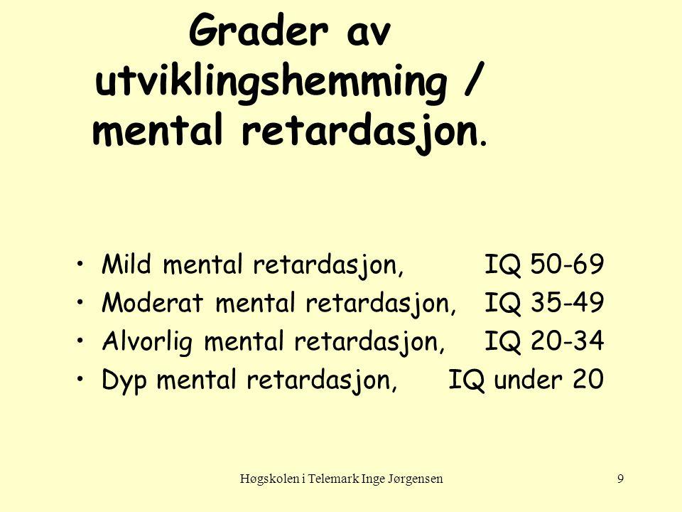 Høgskolen i Telemark Inge Jørgensen20 Norsk undersøkelse 1993 •Spørreskjema til ledende helsesøstre.