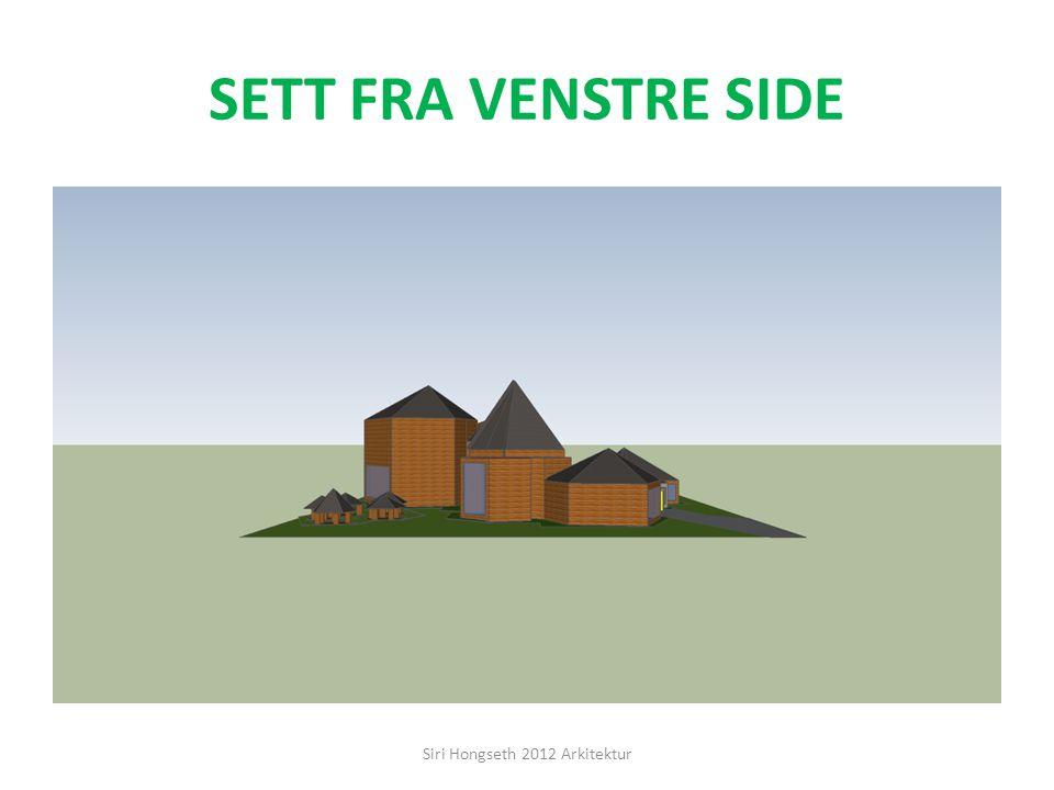 SETT FRA BAKSIDEN FRA VENSTRE Siri Hongseth 2012 Arkitektur