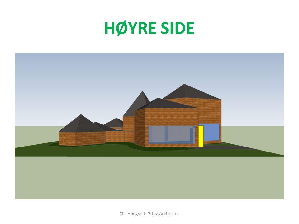 SETT FRA HØYRE SIDE Siri Hongseth 2012 Arkitektur