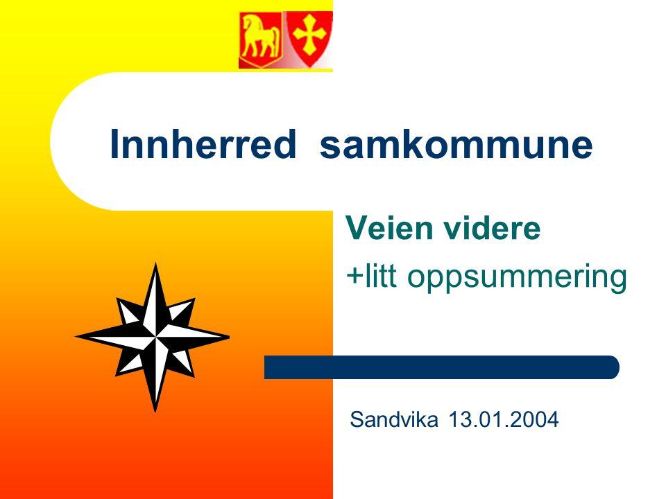 Innherred samkommune - Veien videre +litt oppsummering - Sandvika 13.01.2004 Visjon og hovedmål (Utarbeidet under arbeidsseminar mars 2002.