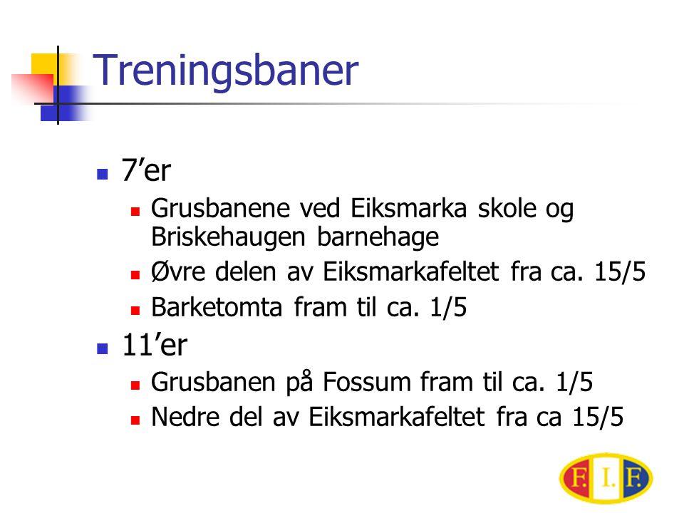 Treningsbaner  7'er  Grusbanene ved Eiksmarka skole og Briskehaugen barnehage  Øvre delen av Eiksmarkafeltet fra ca.