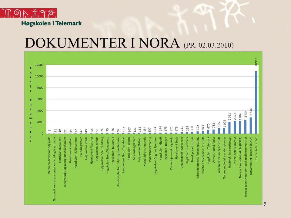 5 DOKUMENTER I NORA (PR. 02.03.2010)